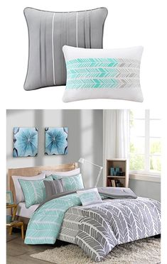 ID Girls Contemporary Reversible Comforter Set with Shams: We love this bead spread for our 12 year olds room! Wish it would have came with sheets but it was nothing to go get some aqua ones from Wal-Mart.