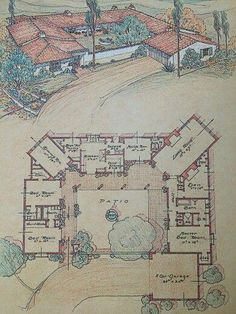 Mexican hacienda style house plans inspirational 20 spanish style homes from som. - Mexican hacienda style house plans inspirational 20 spanish style homes from some country to inspir - Mexican Style Homes, Hacienda Style Homes, Spanish Style Homes, Spanish Revival, Spanish House, Spanish Colonial, Boho Glam Home, Ranch House Plans, House Floor Plans