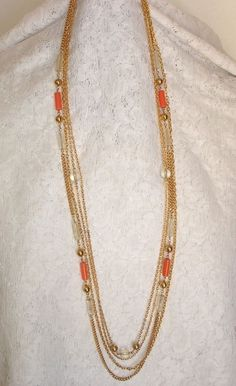 Your place to buy and sell all things handmade Beaded Necklace Patterns, Beaded Jewelry, Gold Jewelry, India Jewelry, Women Jewelry, Gold Chain Design, Gold Jewellery Design, Gold Earrings Designs, Necklace Designs