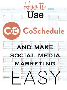 CoSchedule - Social Media Marketing Made EASY!