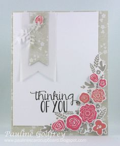 Pauline's Card Cupboard: Mini blooms