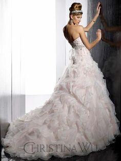 www.uniquebridalandboutique.com Dress Wedding, One Shoulder Wedding Dress, Christina Wu, Wedding Inspiration, Wedding Ideas, Tie The Knots, Beautiful Bride, Bridal Gowns, Trains