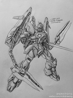 GUNDAM GUY: Awesome Gundam Sketches by VickiDrawing [Updated 2/4/16]