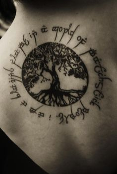 LOTR tree tattoo.