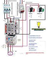 Esquemas eléctricos: Arranque y parada motor trifasico 220v+125v