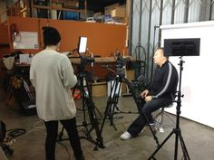 Filming a Testimonial for The Amazing Traveling Photo Booth Service