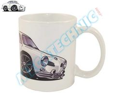"Mug Karmann Ghia blanc ""BRM"" | réf : MUG098 [EN] Mug white Karmann Ghia-BRM-  Ceramic mug, height 90 mm, diameter 80 mm - [FR] Tasse en céramique, hauteur 90 mm, diamètre 80 mm http://www.mecatechnic.com/partenaires/pinterest.asp?redirect=http%3A%2F%2Fwww%2Emecatechnic%2Ecom%2Fpieces%2Easp%3Fcode0%5Fref%3DBDM%26code1%5Fref%3DMUG%26code2%5Fref%3DVOL%26code3%5Fref%3DKAR"