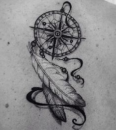 Dreamcatcher compass for the center instead of the lion
