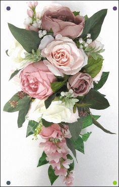 17 Piece Wedding Bouquet Set Bridal Bouquet Package Blush Etsy Lily Bouquet Wedding, Calla Lily Bouquet, Cascade Bouquet, Bouquet Toss, Bridesmaid Flowers, Bride Bouquets, Wedding Flowers, Blush Bouquet, Bouquet Flowers