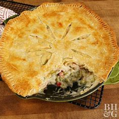 Save time and dishes by stirring together and baking Chicken Pot Pie in an oven-safe skillet.