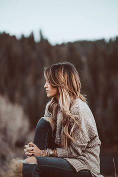 brown sweater + ripped skinnies