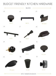 Budget Friendly Black Kitchen Hardware Knobs and Pulls