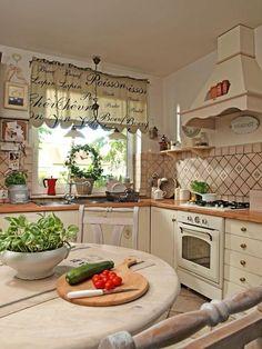 Farmhouse Kitchen Cabinets, Cottage Kitchens, Farmhouse Style Kitchen, Rustic Kitchen, Country Kitchen, Vintage Kitchen, Home Kitchens, Kitchen Room Design, Modern Kitchen Design