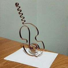 Making music with wire.  #Creative #Living #Create #Music #Wire #Sculpture #Craft #Simply #Arte #SelfCare #JewelryMaking