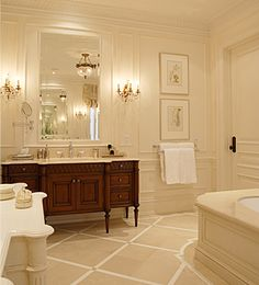 Elements of a Traditional Bathroom….