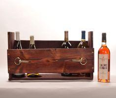 Pallet wine rack, magazine rack, kitchen shelf, pallet shelf on Etsy, $23.95