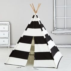 A Teepee to Call Your Own (Black Stripe)
