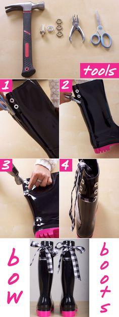 Rain Boots With Bows - Cute Rain Boots - Seventeen