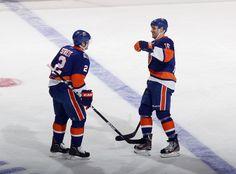 Marty Reasoner and Mark Streit against the Penguins on 3/29/12