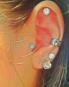 tragus piercing, body, ear, piercings, ideas 23