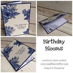 Stampin Up Birthday Blooms card by Emma 2016 Occasions Catalogue