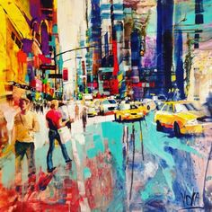 Conrad Algarve is currently hosting the Voka Exhibition which includes this vibrant painting of Times Square in New York City.