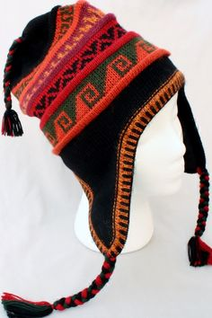 Deluxe Alpaca Knit Lined Chullo with Alpacas hats are warm and richly fashi d09daf783bc