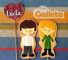 Galletas decoradas. El aniversario de David y Lucia David, Amor, Decorated Cookies