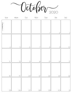 Vertical 2020 Monthly Calendar - Stylish (and free! Printable December Calendar, Blank Calendar Pages, Daily Calendar Template, Free Printable Calendar Templates, Free Monthly Calendar, Calendar Design, Monthly Planner, Printable Planner, Free Printables
