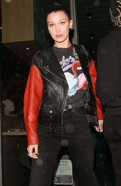 Bella Hadid Out For Dinner At Jon & Vinny's In Beverly Hills