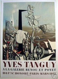 Yves Tanguy-Galerie Renou et Mourlot Lithograph Yves Tanguy, Peggy Guggenheim, Expositions, Paris, Painting, Artists, Montmartre Paris, Painting Art, Paris France