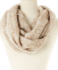 Look at this #zulilyfind! Taupe Knit Infinity Scarf by David & Young #zulilyfinds