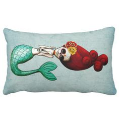 El Dia de Muertos Mermaid Pillow In our offer link above you will seeDiscount Deals          El Dia de Muertos Mermaid Pillow Here a great deal...