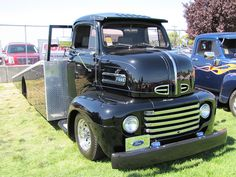 1948 Ford COE ramp deck race transporter by bballchico, via Flickr
