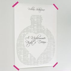 A Book On One Page Print from notonthehighstreet.com