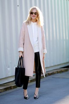Pink coat - Street style.