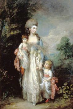 Mrs Elizabeth Moody (1756–1782), with Her Sons Samuel and Thomas, c.1779-1785, Thomas Gainsborough.