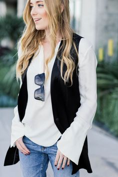 I loved an oversized tuxedo vest and this one has become a favorite for layering instead of picking up a jacket.Also these jeans that I previously wore here have become a favorite cozy staple. They can get a little baggy but I kind of love that lived in look and feel.I am always loving a good…