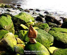 Dancing in red dress Hardanger, Norway  Stone Balancing  Trollsmed Lise Nilsen http://www.trollsmed.com