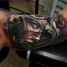 """1,843 """"Μου αρέσει!"""", 8 σχόλια - Tattoo Realistic (@tattoorealistic) στο Instagram: """"Insane piece by the super talented @arlotattoos from USA."""""""