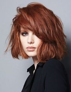 Soothing Medium Bob Hairstyles for All Faces-Best Bob Haircut Ideas Medium Bob Hairstyles, Box Braids Hairstyles, Feathered Hairstyles, Summer Hairstyles, Cool Hairstyles, Redhead Hairstyles, Hairstyles Haircuts, Hair Color Auburn, Auburn Hair