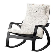 IKEA - POÄNG, Rocking-chair, Vislanda black/white, , The cover is easy to keep clean as it is removable and can be dry cleaned.Layer-glued bent beech frame gives comfortable resilience.The high back gives good support for your neck.10 year guarantee. Read about the terms in the guarantee brochure.