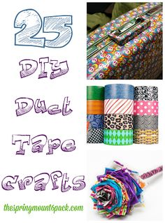 Right now with all new the designs in duct tape and washi tape, everyone is having fun making duct tape crafts. There are even some duct tape crafts that are perfect for back to school. Check out these 25 free duct tape crafts. Duct Tape Projects, Washi Tape Crafts, Duck Tape Crafts, Crafts For Teens, Crafts To Do, Diy Craft Projects, Craft Ideas, Fun Ideas, Kids Crafts