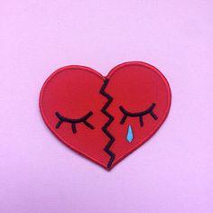 "BROKEN HEART 2"" Iron on Patch"