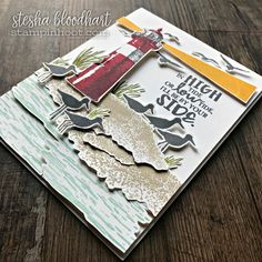 High Tide by Stampin' Up! Stamp Set from the 2017-2018 Annual Catalog. Lighthouse, Beaches, Water and Birds. Stamp Review Crew #steshabloodhart #stampinhoot