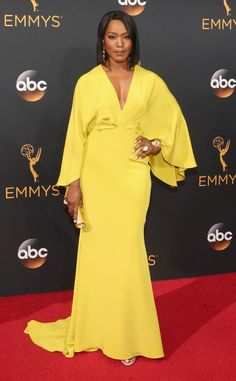 Angela Bassett  2016 Emmys... Wow, selecting the 'right' bridal fabric could make this silhouette  gorgeous. Be open for suggestions.