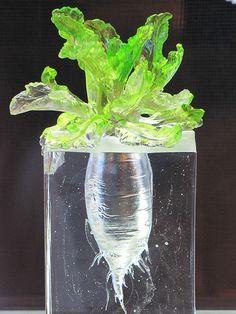 Lettuce Glass Sculpture | Sherrie Thai