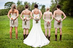 {Bridesmaids Style} : Sequins and Lace | bellethemagazine.com Definitely