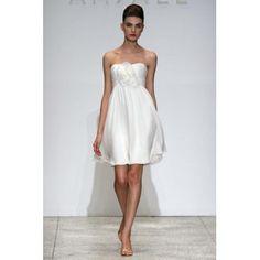 Short Strapless Little White Summer Beach Designer Wedding Dresses