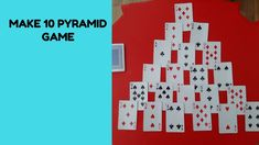 The aim of the game is to clear all the cards from the table by making pairs which total Only cards which are completely uncovered can be paired together. Math 4 Kids, Pyramid Game, Math Bulletin Boards, Math Card Games, Making 10, Working With Children, Elementary Math, Coding, Teaching